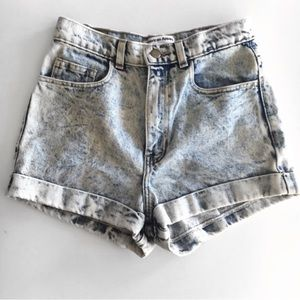 American Apparel Highwaisted Denim Short