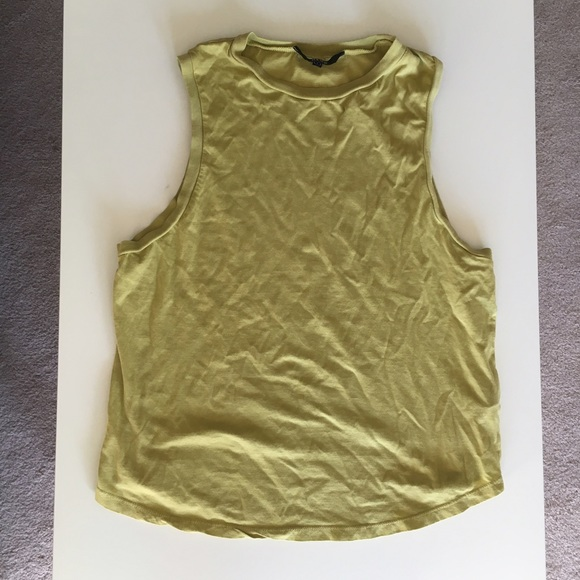 Neuw Tops - NEUW Green Muscle Tank
