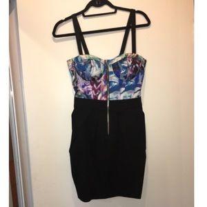 Corset zip dress