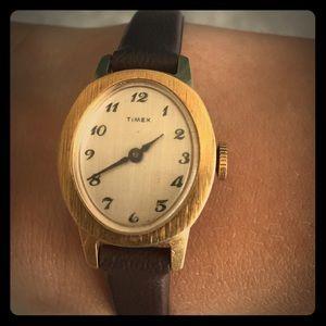 Timex Accessories - Vintage Timex women's wind-up wristwatch.
