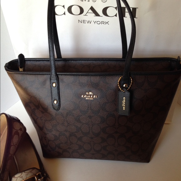 Coach Bags Salenwt Coach Signature City Zip Top Tote Bag Poshmark
