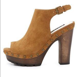 Alice + Olivia Shoes - Alice & Olivia Sharon suede wood heel platform