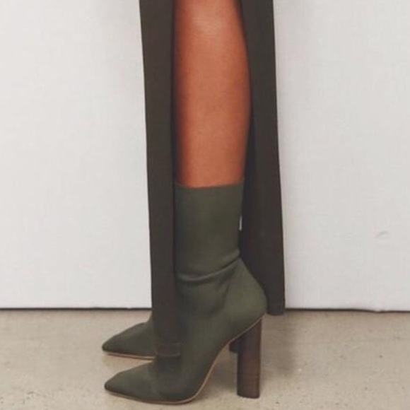 fa235bde4fba HP✨ Sock Boot Olive Bootie