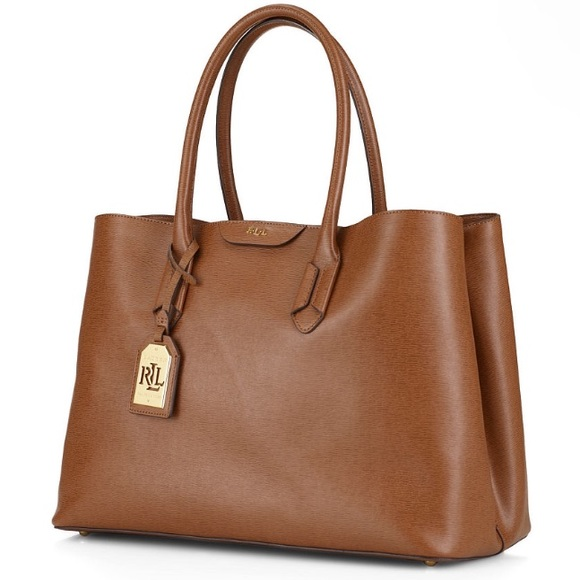 a95faae2eb NWT Lauren Ralph Lauren leather Tate City Tote
