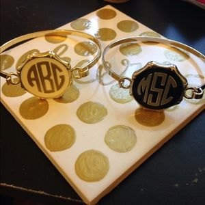 Jewelry - Monogrammed bracelets! PRICE IS FIRM