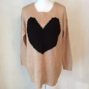 AX Paris Sweaters - 🆕Nwt Oversized Heart Sweater AX PARIS