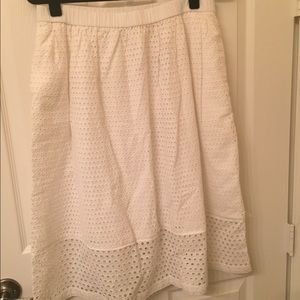 J.Crew eyelet lace skirt