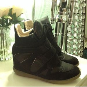 Shoes - Isabel Marant style black wedge sneakers