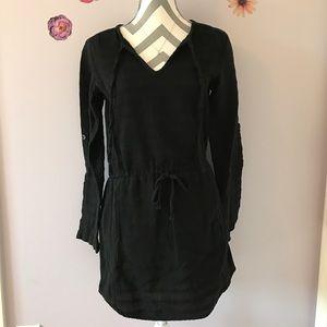 Lou & Grey Cotton Black Dress
