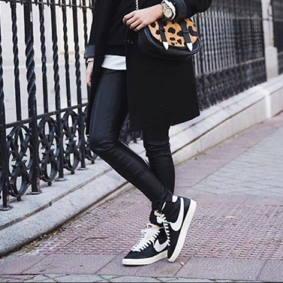 Nike | Blazer mid-suede hi-top sneakers in GRAY