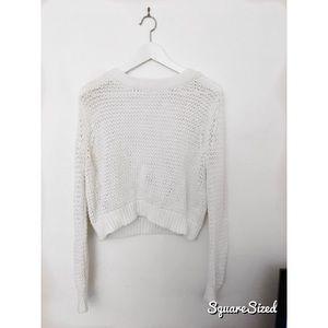 Club Monaco Crop Sweater with Sexy V-Back