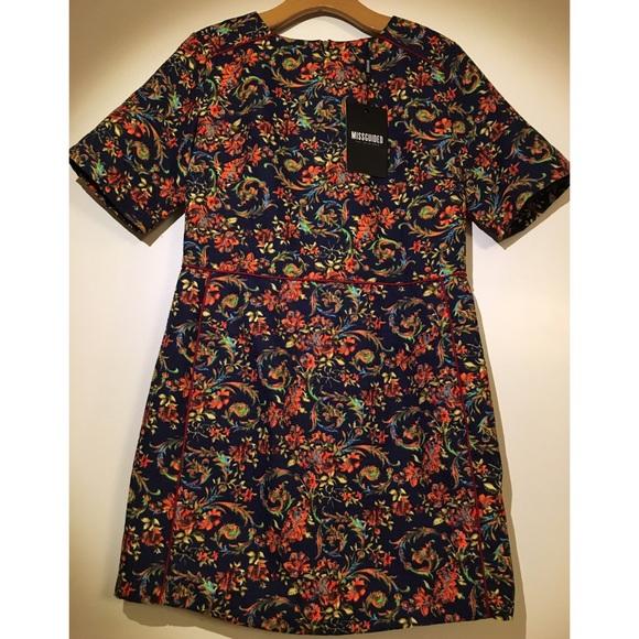 Brocade shift dress missguided fashion