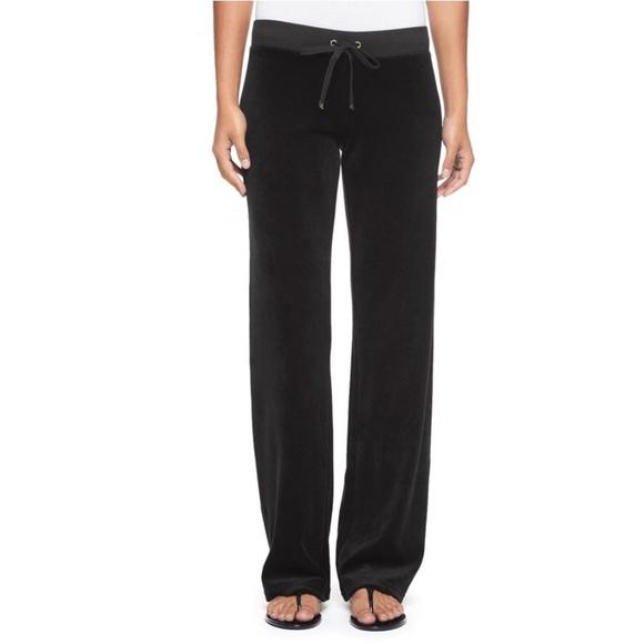 Juicy Couture Pants - Juicy Couture Original Black Velour Track Pants 6f99e68c2