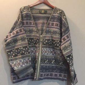 Orvis Sweaters - Orvis wool sweater size XL with zip front