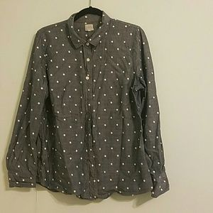 "J. Crew ""The Perfect Shirt"" Chambray Top"