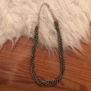 joe fresh black gold chain necklace