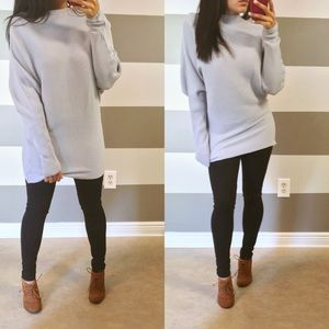 Tops - •LAST• Lilac gray oversized tunic sweater dress