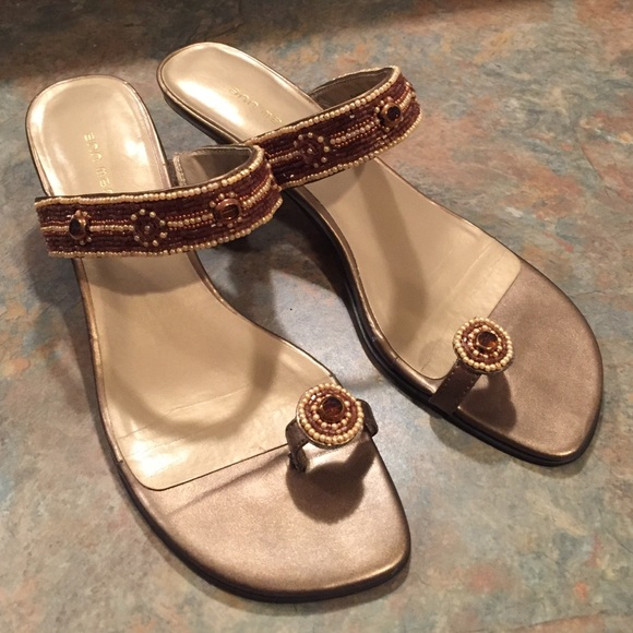 fbf4ef09c2ddcf Ann Marino Shoes - Ann Marino beaded kitten heel sandal