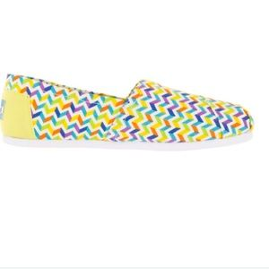 TOMS Shoes - Brand New Multi Canvas Chevron Toms
