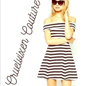 ASOS Bardot Striped dress