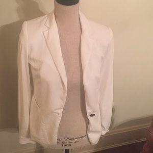 White Zara blazer small