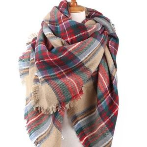 Accessories - Plaid blank scarf