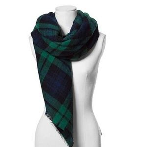 Accessories - large plaid blanket scarf