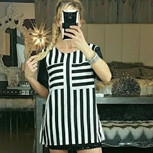 TOP STRIPES Pinstripe baseball top NWOT