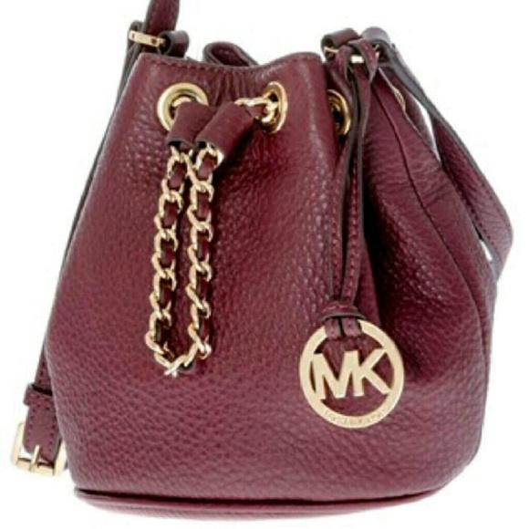 Michael Kors Frankie Merlot Bucket Bag