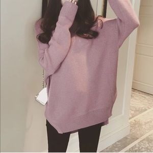 Sweaters - Oversized Slit Sweater