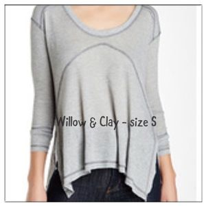 Willow & Clay Tops - Willow & Clay - NWT size Small thermal grey