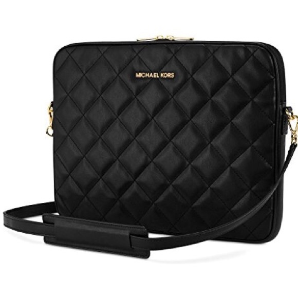 0e5aa3c1f Michael Kors Bags | Quilted Leather Macbookpro Laptop Bag | Poshmark