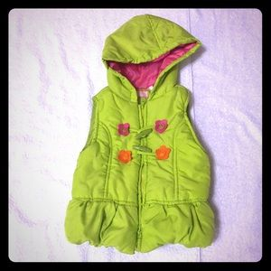 Kids Headquarters Other - Baby Lime Green Puffer Vest with Hood