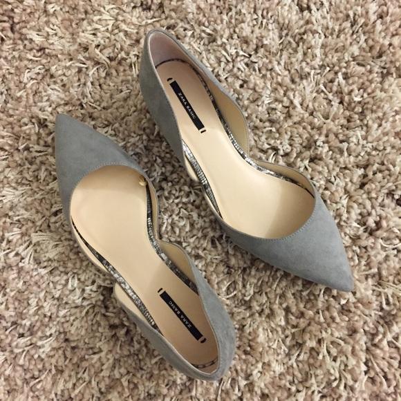 d6020c3757343 Zara Shoes | Kitten Heel Wpointed Toe Dorsay Size 39 | Poshmark