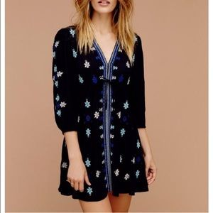 Stargazer embroidered tunic dress