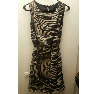 Small Zebra Printed Dress with sequins