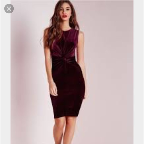 cdce8cc802 Oxblood velvet dress by missguided