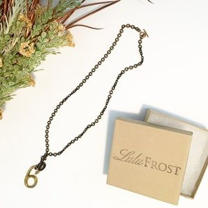 Lulu Frost Jewelry - LuLu Frost Six Necklace Brass & Gold Vintage Look