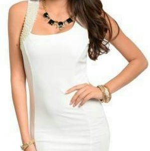 Dresses & Skirts - Sexy Fitted Pearl Jeweled Dress