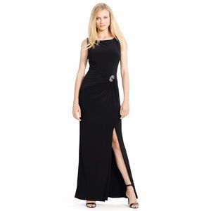 Ralph Lauren embellished Ruched Jersey Gown