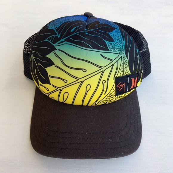 Sig Zane Hurley Hawaii Tropical Trucker Hat 3fe1a3f1c00d