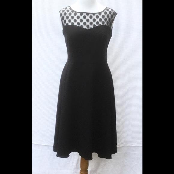 Torrid Dresses New Black Polka Dot Fit Flare Dress 14