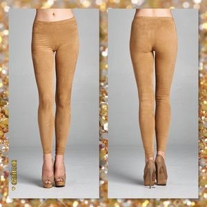 Glam Squad 2 You Pants - JUST IN🆕Camel Faux Suede Leggings Fall Must Have