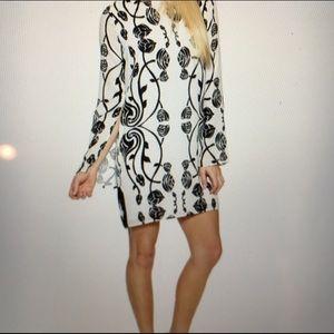 Bec & Bridge Dresses & Skirts - Black and white floral print silk dress