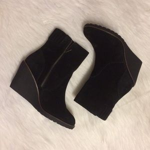Lacoste Suede Wedge Boots