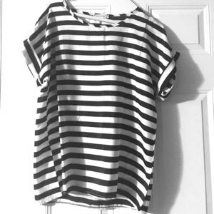 Liva Girl Tops - Silky stripe shirt