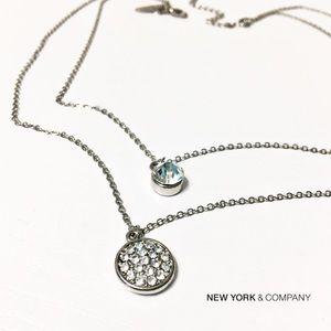 New York & Company Jewelry - NWT NY&Co Dainty Crystal Layered Necklace