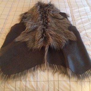 Simply Vera Vera Wang Jackets & Blazers - A fake fur vest