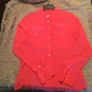J Crew - 100% silk blouse