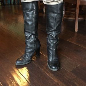 leather riding boots 6M